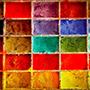 Pigments poudre multicolores